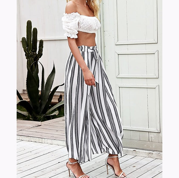 Nine Points  Striped Wide-Leg Pants