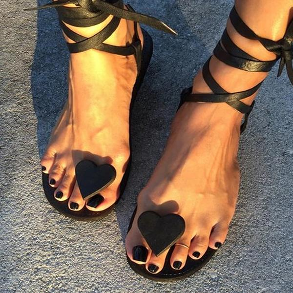 Breathable Summer Lace-Up Sandals