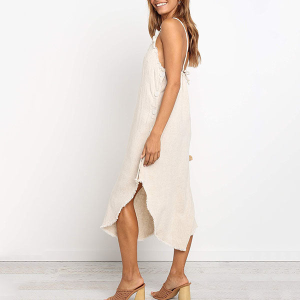 Sexy V Neck Irregular Dress