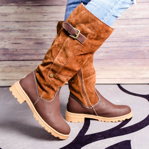 Patchwork Women's Snow Martin Boots