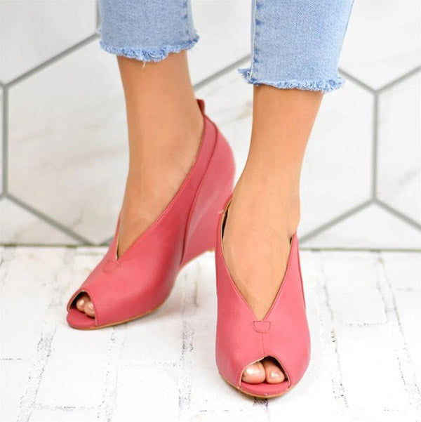 Casual Fish Toe Wedge Sandals