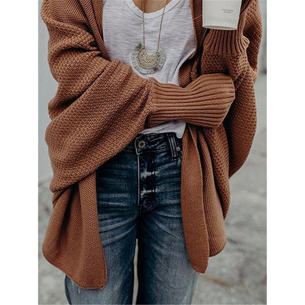 Women Bat Sleeve Sweater Coats
