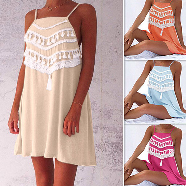 Bohemian Sleeveless Vacation Beach Dress