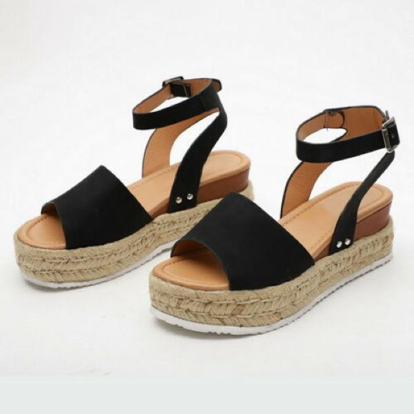 Women's Summer Ankle Strap Wedge Casual Platform Sandals