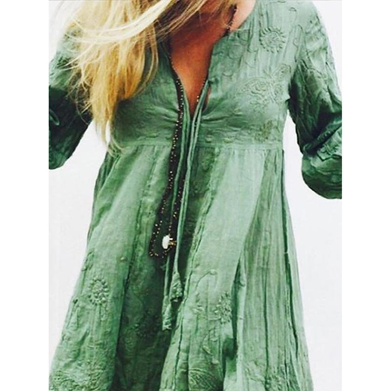 Women's Vintage Big Hem Dresses