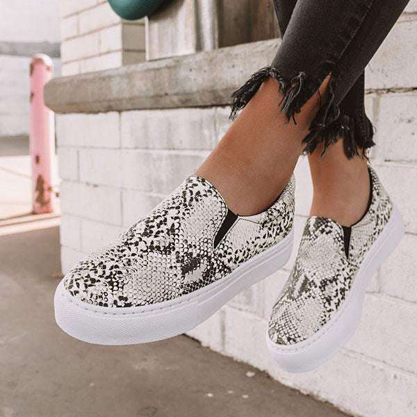 Casual Slip-On Comfy Leopard Printed Flats