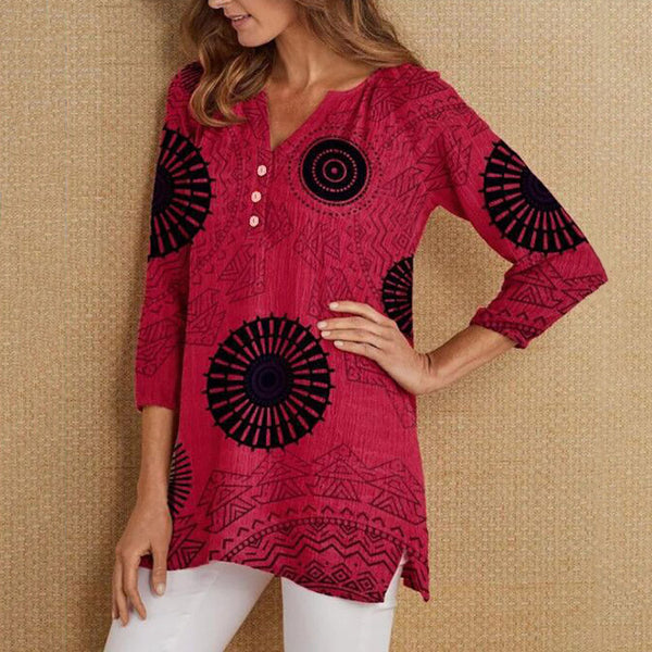 V Neck Casual Women Blouses