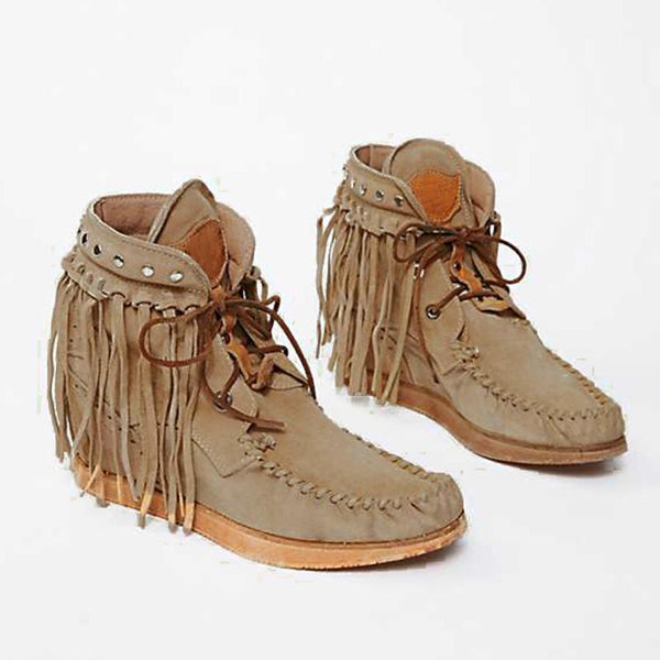 Fashion Comfortable Large Size Tassel Boots