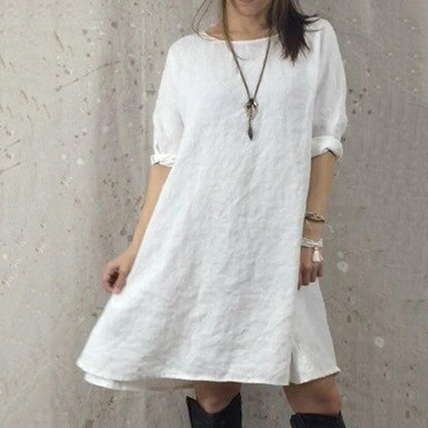 Casual Solid Color Loose Dresses