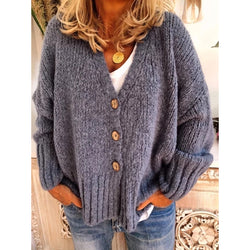 Women's Plus Size Casual Sweater Cardigan