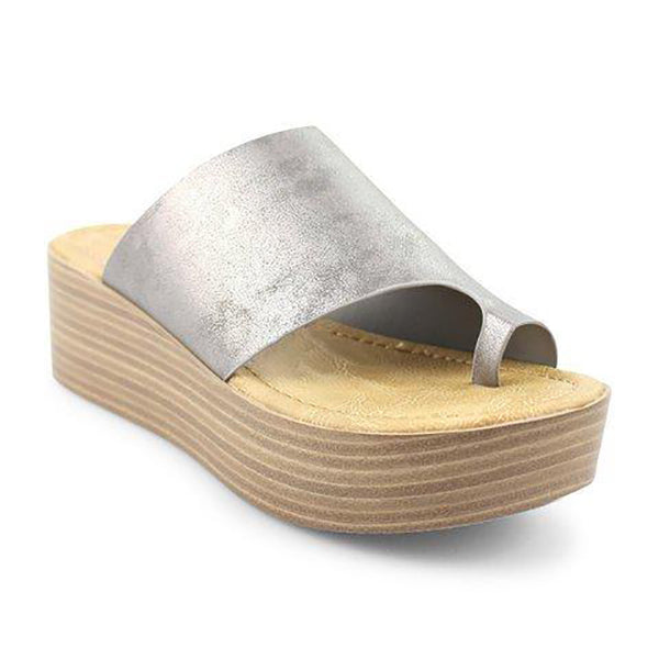 Simple Solid Color Wedge Slipper