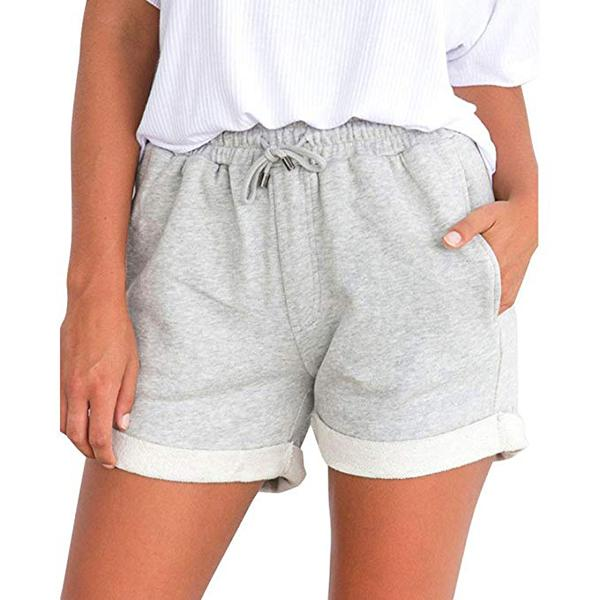 Sports Solid Color Straight Shorts