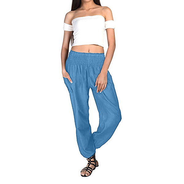 Elastic Waist Casual Loose Pants