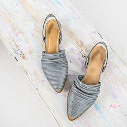 Fashion Point Toe Low Heel Slipper