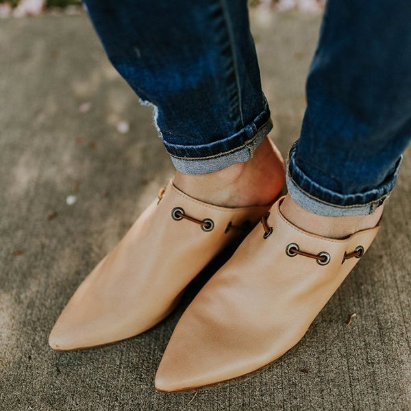 Sexy Pointed Toe Nude Sandals