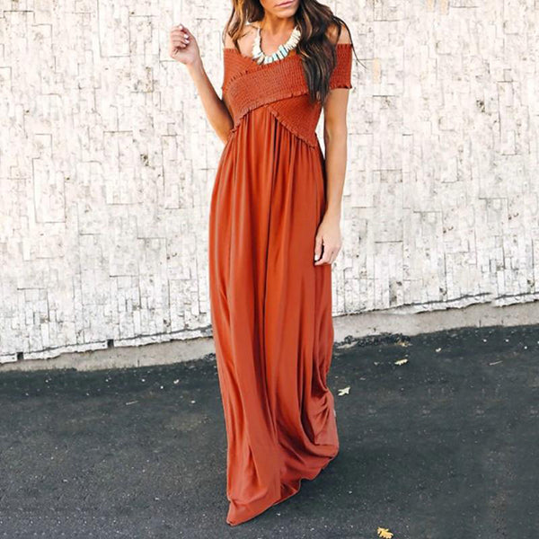 Sexy Off The Shoulder Evening Maxi Dresses