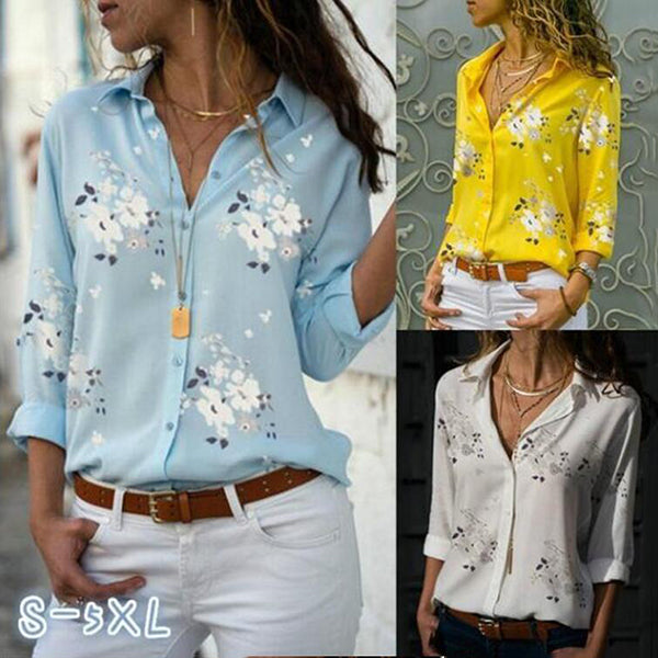 Elegant Fashion Printed Solid Color Shirts