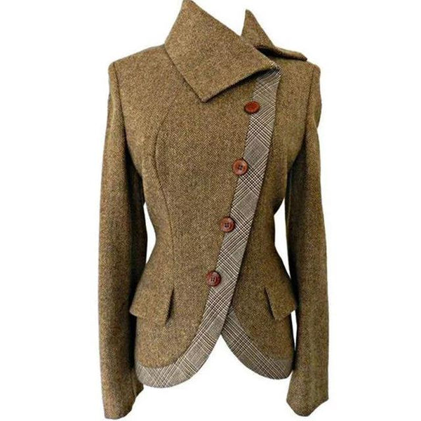 Thick Warm Side Button Vintage Outerwear