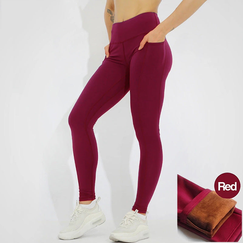 High Waist Padded Pocket Leggings