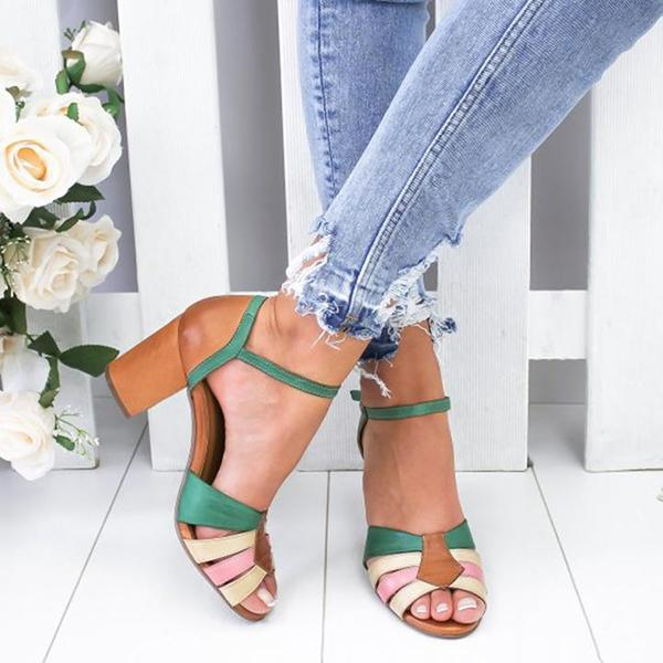 Fashion Mid Heel Sandals