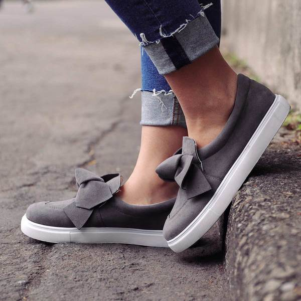 Casual Platform Round Toe Slip-on Flats