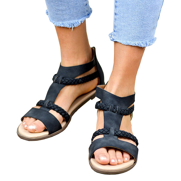 Casual Simple Vintage Flat Sandals