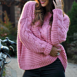 Women Long Sleeve Round Neck Sweaters