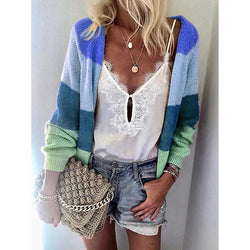 Women's Autumn Multi-Color Knitting Cardigan