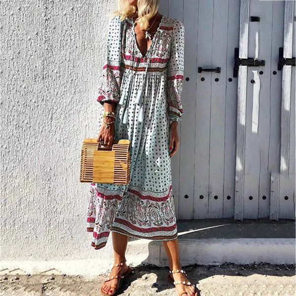 Fashion Summer Long Sleeve Women Dress