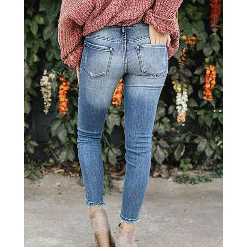 Slim Casual Patchwork Jeans