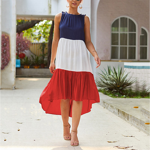 Summer Fashion Round Neck Women Dress
