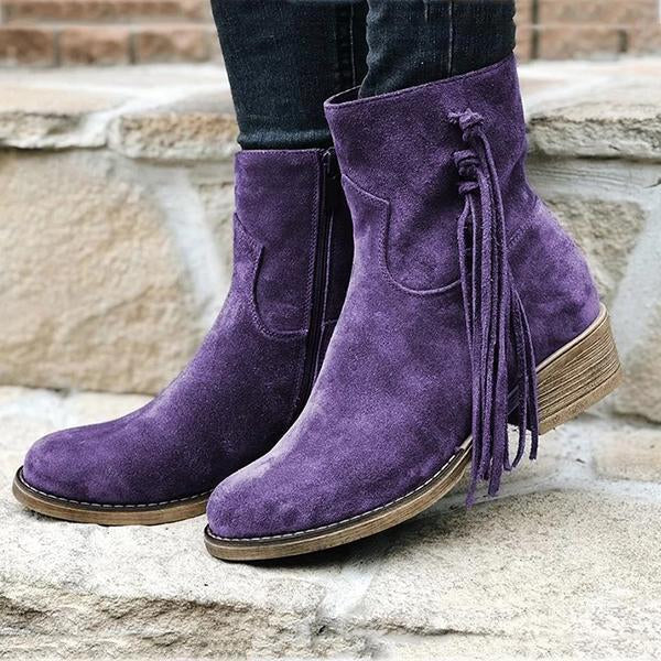 Ankle Boots Slip-On Women Boots