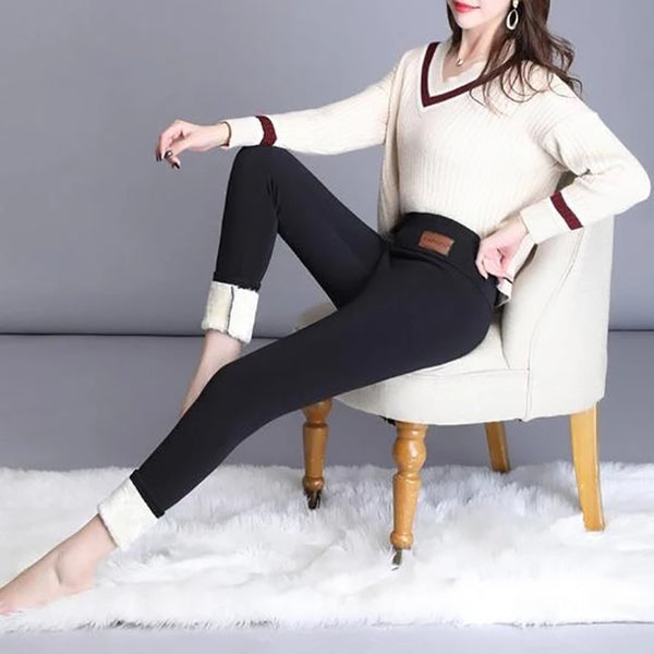 Winter Warm Tight Thick Lamb Cashmere Pants