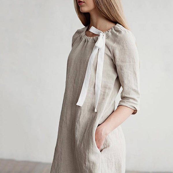 Simple Comfortable Lace-Up Dresses