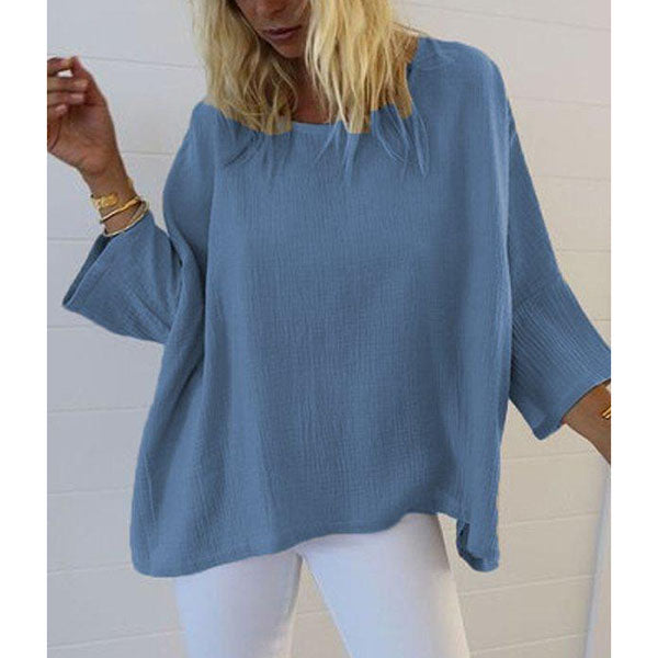 Plus Size Casual Solid Color Blouse