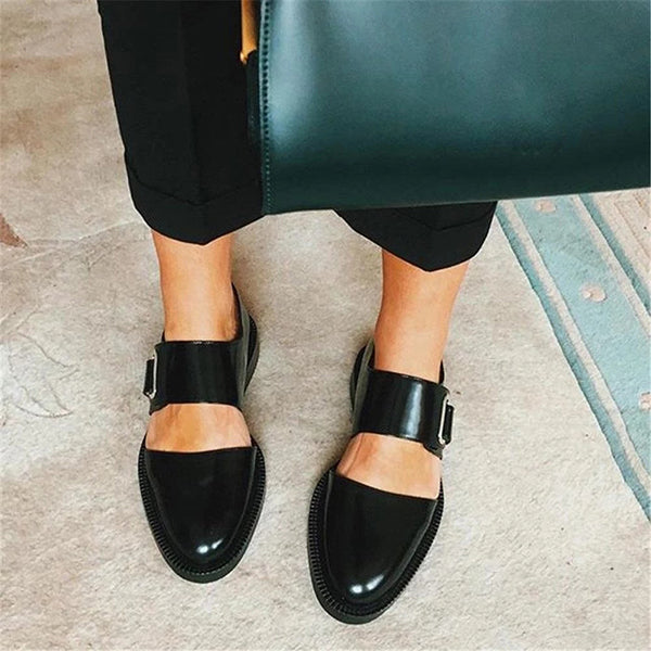 Ladies Comfortable Bottom Round Side Flats