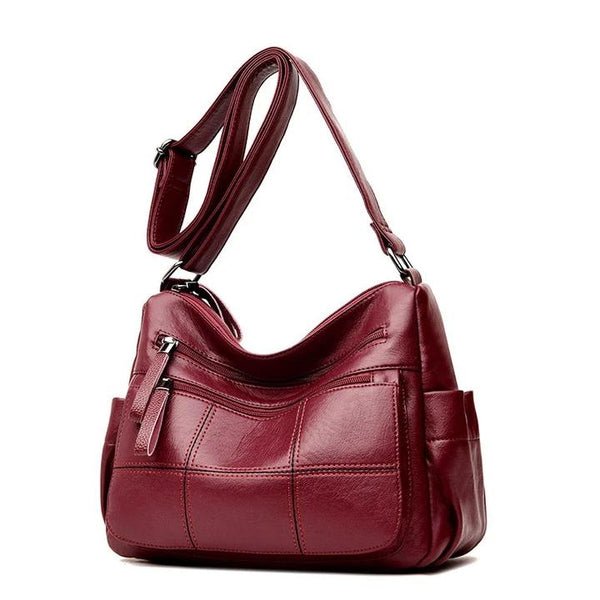 Women Multi-Slot Leisure Stitching Crossbody Bag