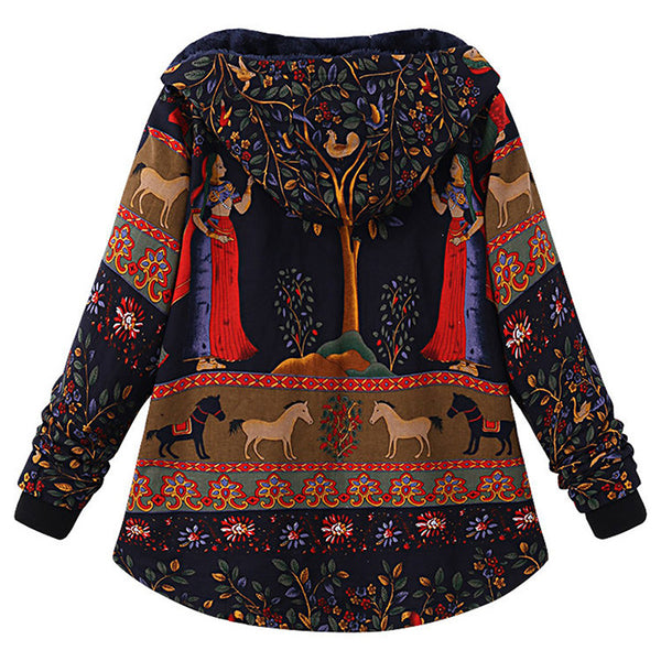 Vintage Plus Size Fashion Women Coats
