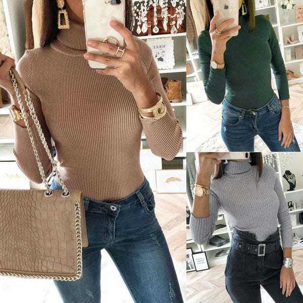 Elastic Comfort Long Sleeve Casual Sweater
