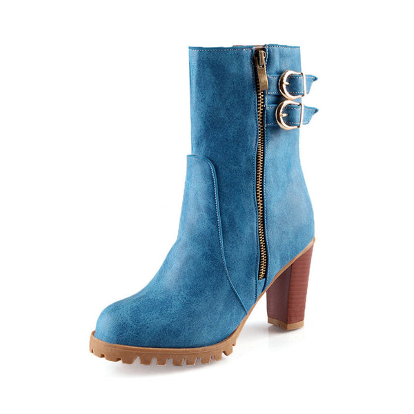 Casual Round Toe Short Boots