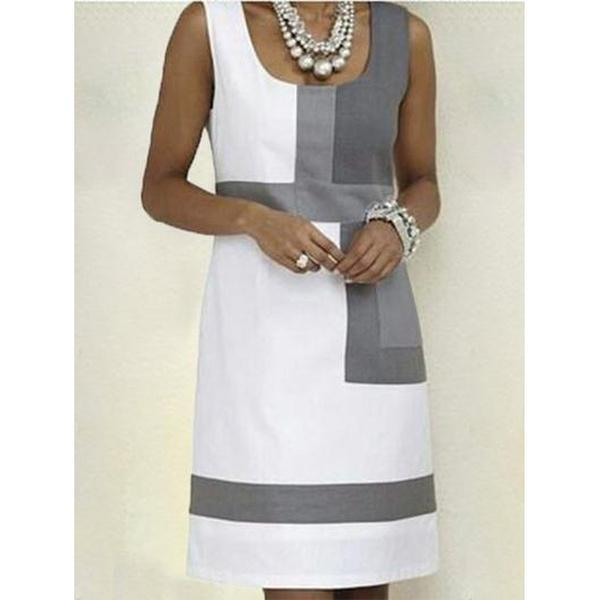 Shift Geometric Sleeveless Dress