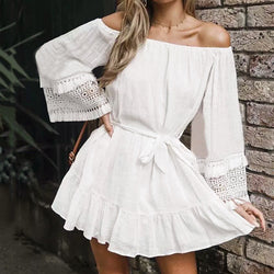 Off-The-Shoulder Vacation Beach Dress