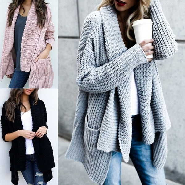 Women Long Sleeve  Loose Irregular Coats