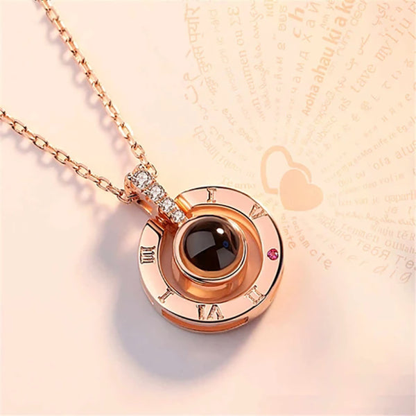 "Romantic 100 Languages ""I Love You"" Necklace"