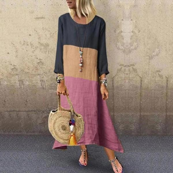 Women Crew Neck Long Sleeve Dresses