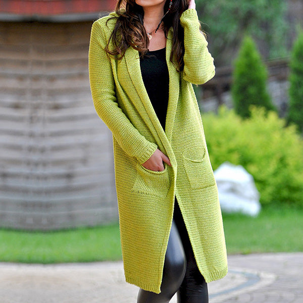 Daily Long Sleeve Solid Color Coats