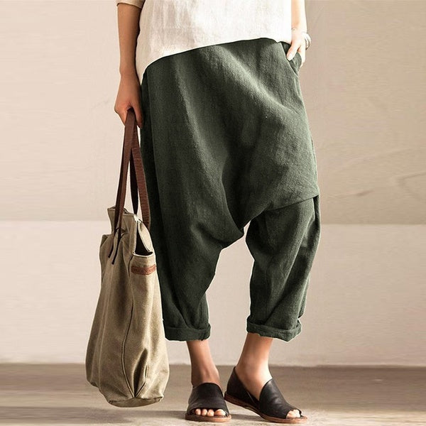 Harem Pants Plus Size Pockets Pants