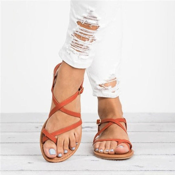 Casual Across Strap Flat Comfortable Sandals