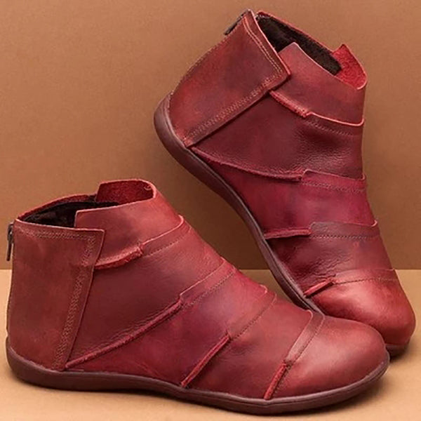 Flat Heel Closed Toe Ankle Boots