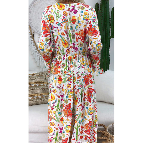 Bohemian Printed Casual  Dress